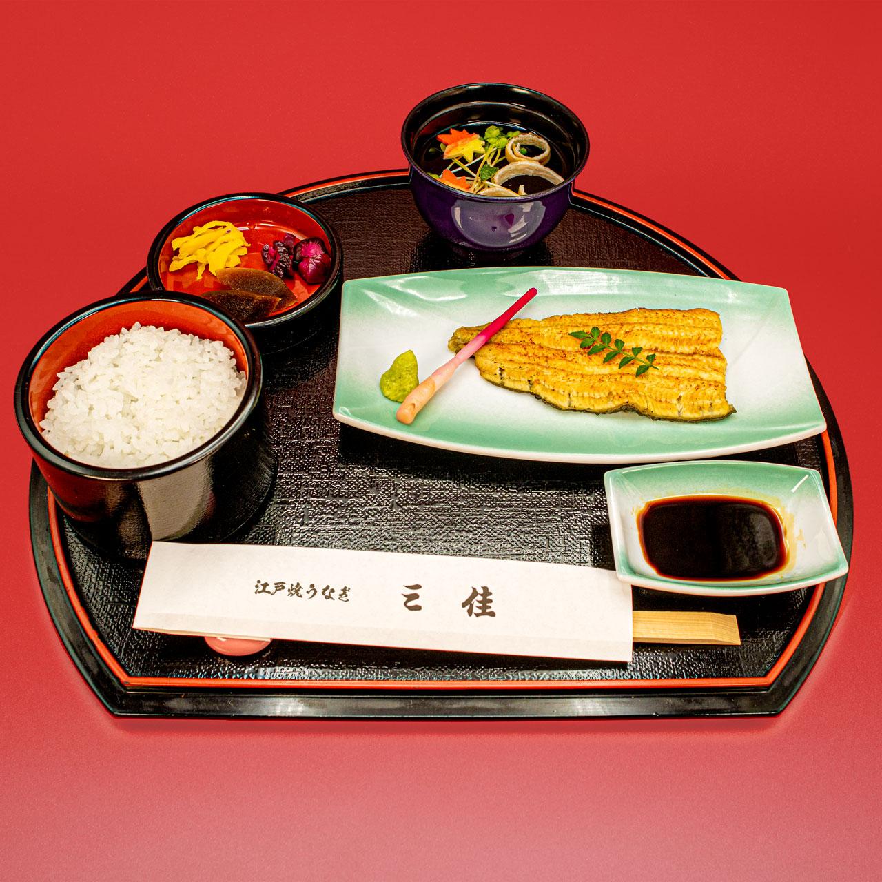 白焼ハーフ(きも吸・ご飯付き)2,450円